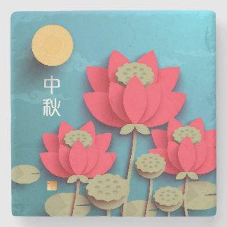 Lotus de papel. Tubería: Mediados de festival 2 Posavasos De Piedra