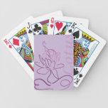 lotus design bicycle playing cards