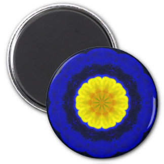 Lotus Design 2 Inch Round Magnet