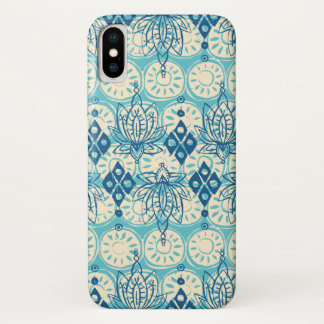 lotus diamond blue iPhone x case