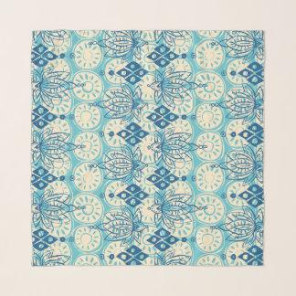 lotus diamond blue scarf
