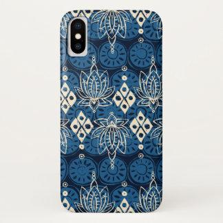 lotus diamond indigo iPhone x case