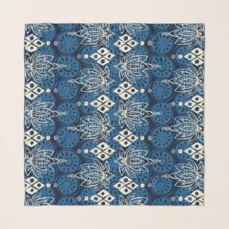 lotus diamond indigo scarf