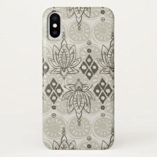 lotus diamond linen iPhone x case