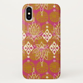 lotus diamond pink iPhone x case