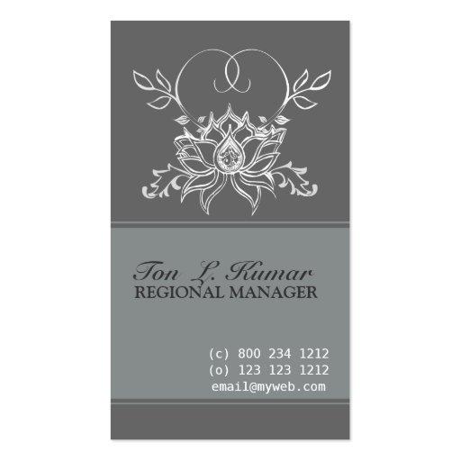 Lotus Elegant Sacred Business Cards