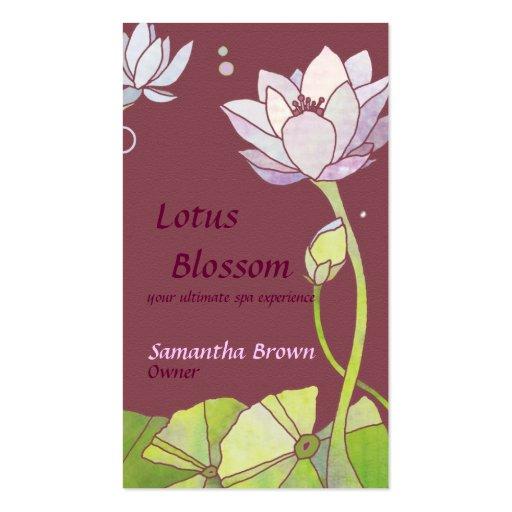 Lotus elegante: Tarjetas de visita del salón/del b