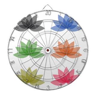 Lotus en diversos colores tabla dardos