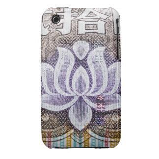Lotus en un Yuan chino Case-Mate iPhone 3 Coberturas