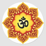 Lotus espiritual OM diseña Etiquetas
