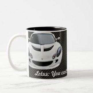 Lotus Exige S Race Car Two-Tone Coffee Mug
