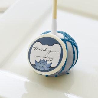 Lotus exquisito en estallido azul de la torta
