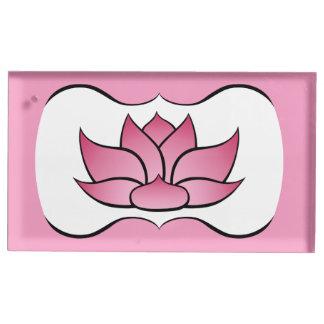 Lotus exquisito en portatarjetas rosado de la soportes para tarjetas de mesa