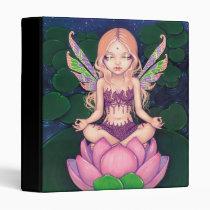 artsprojekt, art, fantasy, lotus fairy, lotus blossom, yoga fairy, yoga, lotus, lotuses, flower, flowers, blossoms, yogini, yogi, blonde, new age, lilypad, waterlily, waterlilies, lily pond, lily pads, star, stars, water, eye, eyes, big eye, big eyed, jasmine, becket-griffith, becket, griffith, jasmine becket-griffith, jasmin, strangeling, artist, goth, gothic, fairy, Fichário com design gráfico personalizado