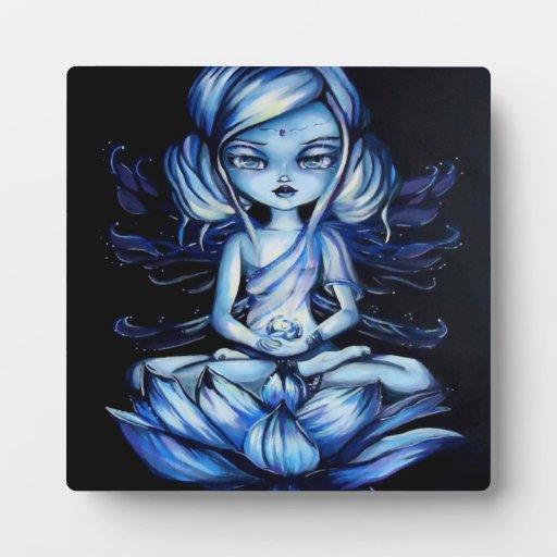 Lotus Fairy Meditation Fantasy Art Plaque
