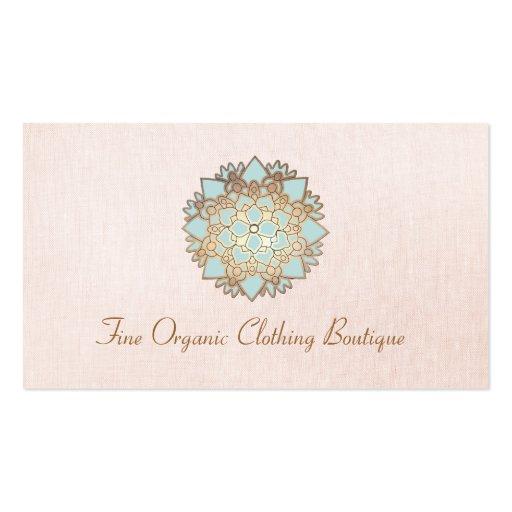 Lotus Fashion Boutique Pink Linen Business Card