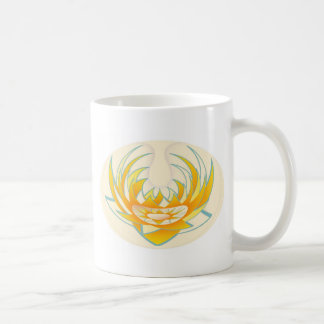 LOTUS Fire Energy Design Classic White Coffee Mug