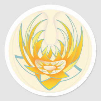 LOTUS Fire Energy Design Round Stickers