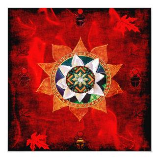 Lotus Fire Weave Card
