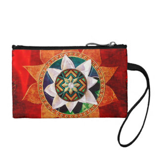 Lotus Fire Weave Coin Purse