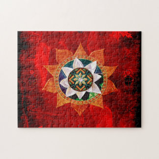 Lotus Fire Weave Jigsaw Puzzles