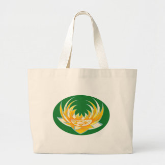 LOTUS Flame in Green Base Canvas Bags