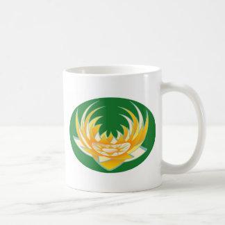LOTUS Flame in Green Base Classic White Coffee Mug