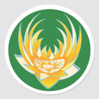 LOTUS Flame in Green Base Stickers