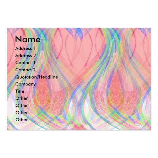 Lotus Flames Large Business Card
