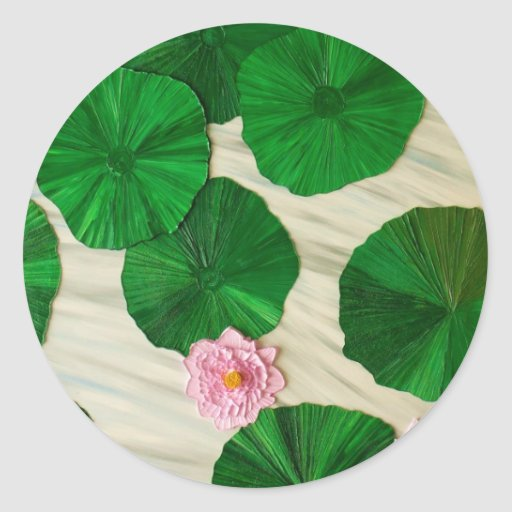 Lotus, flor del 1 del este pegatina redonda
