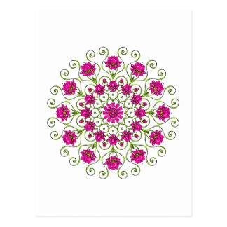 Lotus flor Mandala Postal