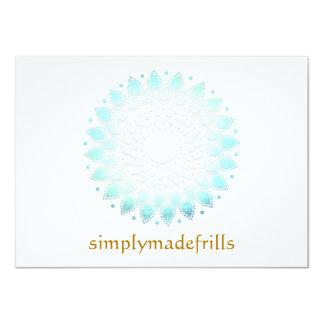 """Lotus floral azul invitación 4.5"""" x 6.25"""""""