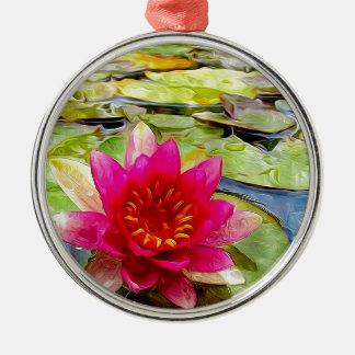 Lotus Flower 2 Christmas Ornaments