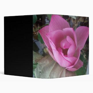 Lotus Flower 3 Ring Binder