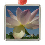 Lotus Flower and Blue Sky II Nature Photography Metal Ornament