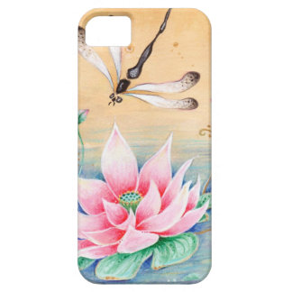 Lotus Flower and Dragonfly.jpg iPhone SE/5/5s Case