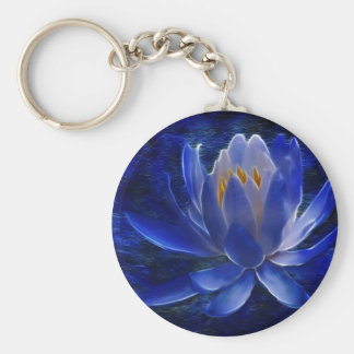 Lotus flower and its meaning basic round button keychain