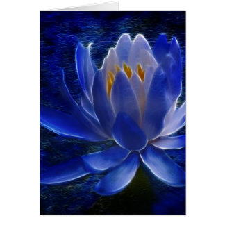 Lotus flower and its meaning card