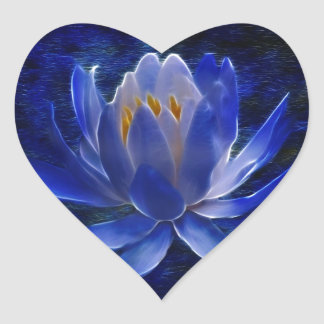 Lotus flower and its meaning heart sticker