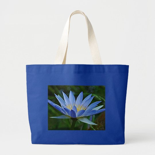 Lotus flower and meaning large tote bag