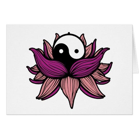 Lotus Flower and Yin Yang Card
