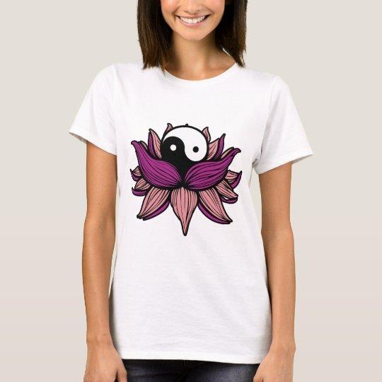 Lotus Flower and Yin Yang T-Shirt
