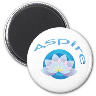 Lotus Flower - Aspire 2 Inch Round Magnet