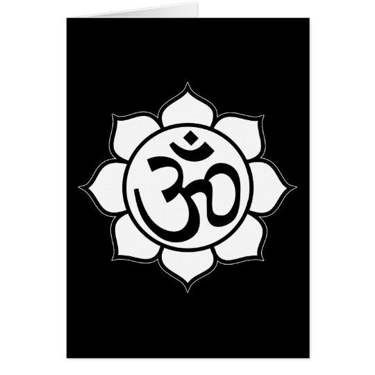 Lotus Flower Aum Symbol Card