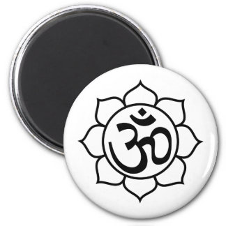 Lotus Flower Aum Symbol Refrigerator Magnets