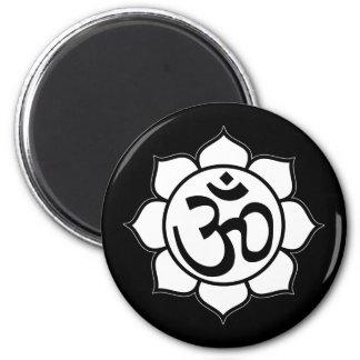 Lotus Flower Aum Symbol Magnets