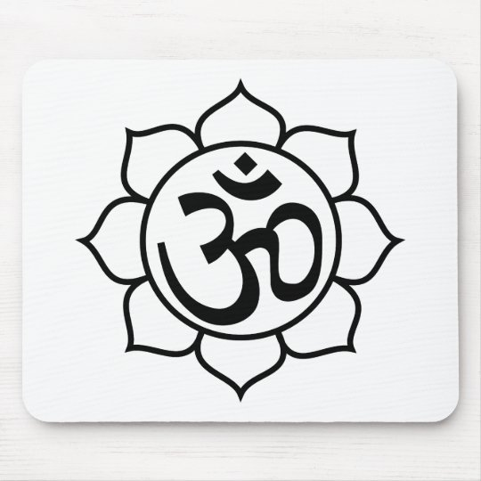 Lotus Flower Aum Symbol Mouse Pad