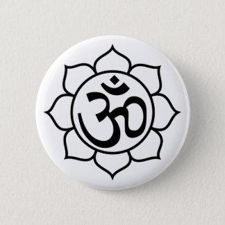 Lotus Flower Aum Symbol Pinback Button