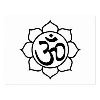 Lotus Flower Aum Symbol Post Cards