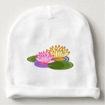 Lotus flower baby beanie